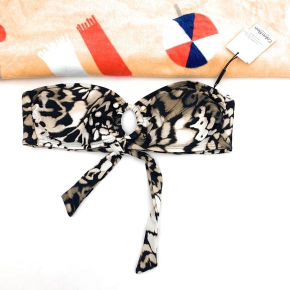 Calvin Klein Other - 4/$25 Calvin Klein Animal Print Bikini Top XL NWT